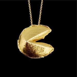 14k Gold Dipped Fortune Cookie Locket